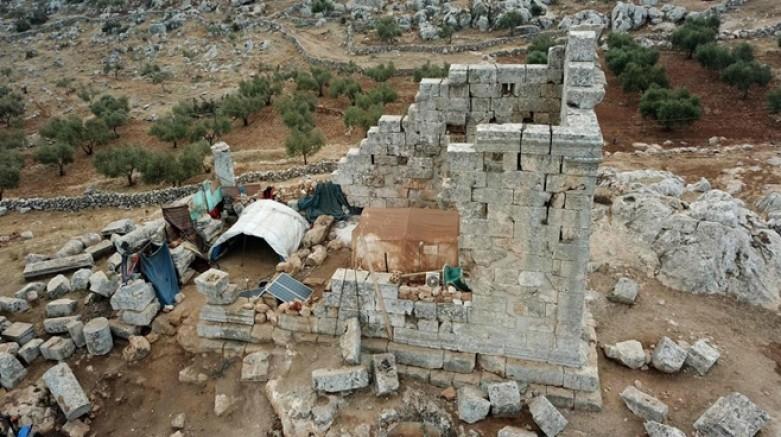 Savaştan kaçan Suriyeliler, antik kente yerleşti