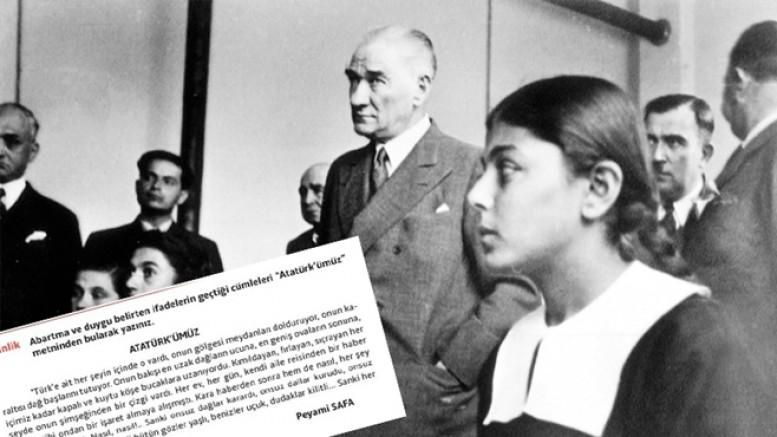 Türkçe ders kitabında Peyami Safa'nın Atatürk'e övgüsü abartı sayıldı!